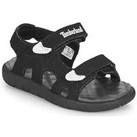 Schuhe Kinder Sandalen / Sandaletten Timberland Perkins Row 2-Strap Schwarz