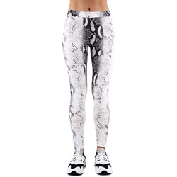 Kleidung Damen Leggings Happiness | Leggings Schlange, weiss | HAP_I19_LEGPIT blanc