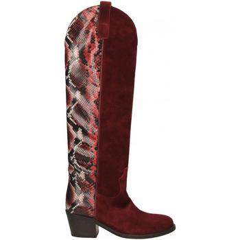 Schuhe Damen Klassische Stiefel Via Roma 15 TEXANO ALTO 347 chianti-rosso