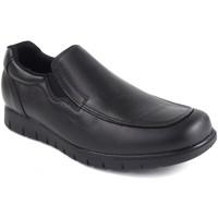 Schuhe Herren Slipper Duendy 1005 schwarz Schwarz
