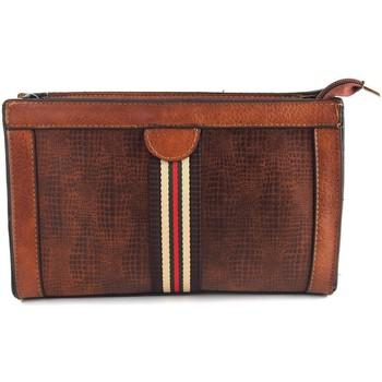 Taschen Damen Geldtasche / Handtasche Bienve Damenaccessoires  sy632 Leder Braun