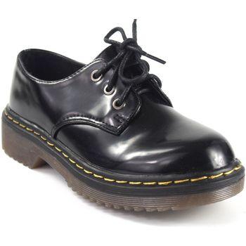 Schuhe Mädchen Derby-Schuhe Bubble Bobble Mädchenschuh  a2669 schwarz Schwarz