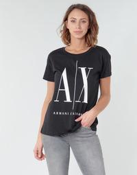 Kleidung Damen T-Shirts Armani Exchange HELIEK Schwarz