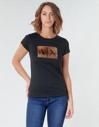 Kleidung Damen T-Shirts Armani Exchange HONEY Schwarz