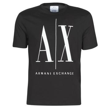 Kleidung Herren T-Shirts Armani Exchange HULO Schwarz