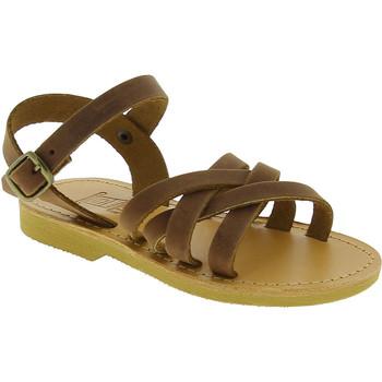 Schuhe Mädchen Sandalen / Sandaletten Attica Sandals HEBE NUBUK DK BROWN Marrone medio