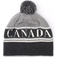 Accessoires Damen Mütze Canada Goose Cappellino in lana grigia con pompom Grau