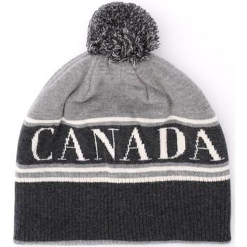 Accessoires Damen Mütze Canada Goose graue Wollmütze mit Pompon Grau