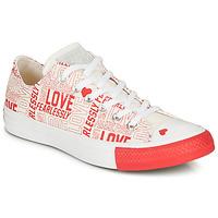 Schuhe Damen Sneaker Low Converse CHUCK TAYLOR ALL STAR - OX Weiss / Rot