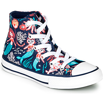 Schuhe Mädchen Sneaker High Converse Chuck Taylor All Star Underwater Party Blau
