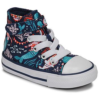 Schuhe Mädchen Sneaker High Converse CHUCK TAYLOR ALL STAR 1V UNDERWATER PARTY Blau
