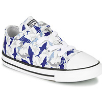 Schuhe Jungen Sneaker Low Converse CHUCK TAYLOR ALL STAR 1V SHARK BITE - OX Blau / Weiss