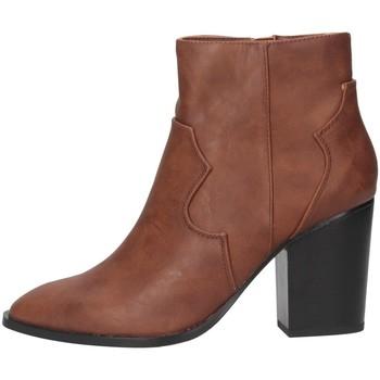 Schuhe Damen Low Boots Exé Shoes Exe' RIO-477 Texano Frau Bräune Bräune