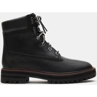Schuhe Damen Low Boots Timberland London square 6in bo Schwarz