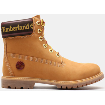 Schuhe Damen Low Boots Timberland 6in prem w/sock colar Braun