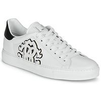 Schuhe Herren Sneaker Low Roberto Cavalli 1005 Weiss / Schwarz