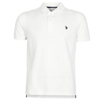 Kleidung Herren Polohemden U.S Polo Assn. INSTITUTIONAL POLO Weiss