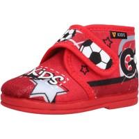 Schuhe Jungen Babyschuhe Valleverde - Pantofola rosso 60802 ROSSO