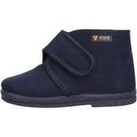 Schuhe Jungen Babyschuhe Valleverde - Pantofola blu 60801 BLU