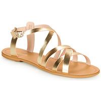 Schuhe Damen Sandalen / Sandaletten So Size IDITRON Gold