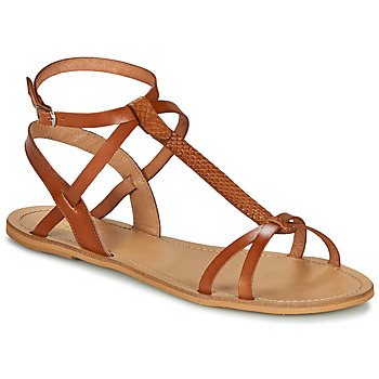 Schuhe Damen Sandalen / Sandaletten So Size BEALO Camel