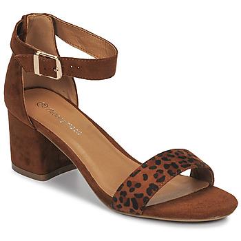 Schuhe Damen Sandalen / Sandaletten Moony Mood MEDIO Leopard