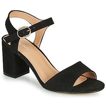 Schuhe Damen Sandalen / Sandaletten Moony Mood MEGANE Schwarz