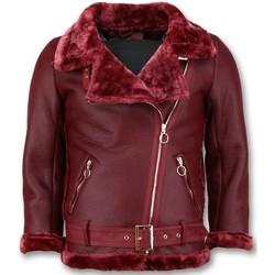 Kleidung Damen Lederjacken / Kunstlederjacken Z Design Shearling Jacket Da Lammy Coat Bordeaux