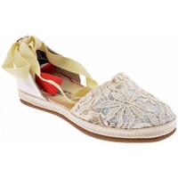 Schuhe Damen Leinen-Pantoletten mit gefloch O-joo Campesina turnschuhe