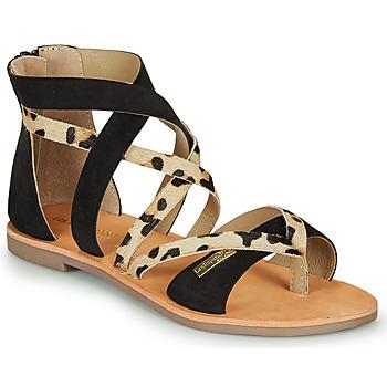 Schuhe Damen Sandalen / Sandaletten Les Tropéziennes par M Belarbi POPS Schwarz / Leopard