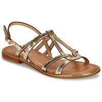 Schuhe Damen Sandalen / Sandaletten Les Tropéziennes par M Belarbi HACKLE Goldfarben