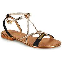 Schuhe Damen Sandalen / Sandaletten Les Tropéziennes par M Belarbi HIRONBUC Schwarz / Goldfarben
