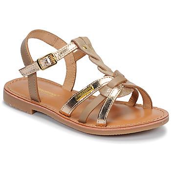 Schuhe Mädchen Sandalen / Sandaletten Les Tropéziennes par M Belarbi BADAMI Beige / Goldfarben