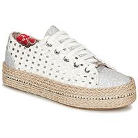 Schuhe Damen Sneaker Low Café Noir MERYOU Weiss / Silbern