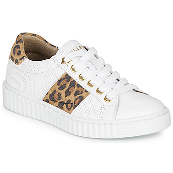 Schuhe Mädchen Sneaker Low Bullboxer LORIS Weiss / Leopard