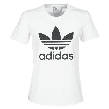 Kleidung Damen T-Shirts adidas Originals TREFOIL TEE Weiss