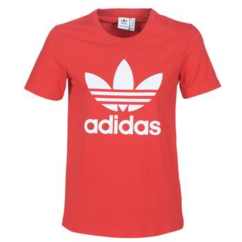 Kleidung Damen T-Shirts adidas Originals TREFOIL TEE Rot