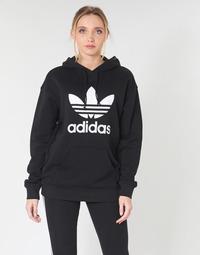 Kleidung Damen Sweatshirts adidas Originals TRF HOODIE Schwarz