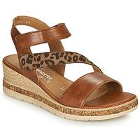 Schuhe Damen Sandalen / Sandaletten Remonte Dorndorf HERNENDEZ Cognac / Leopard
