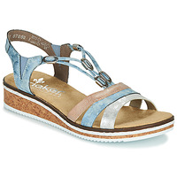 Schuhe Damen Sandalen / Sandaletten Rieker LAKTOS Blau