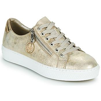 Schuhe Damen Sneaker Low Rieker LIROS Gold