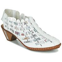 Schuhe Damen Ankle Boots Rieker KANIN Weiss / Multifarben