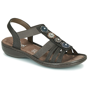 Schuhe Damen Sandalen / Sandaletten Rieker ANOUCK Schwarz