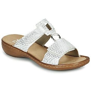 Schuhe Damen Sandalen / Sandaletten Rieker MOLLY Silbern