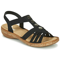 Schuhe Damen Sandalen / Sandaletten Rieker NEX Schwarz