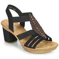 Schuhe Damen Sandalen / Sandaletten Rieker ROOT Schwarz