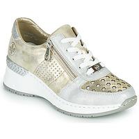 Schuhe Damen Sneaker Low Rieker LEA Gold / Silbern