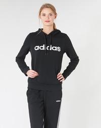 Kleidung Damen Sweatshirts adidas Performance E LIN OH HD Schwarz
