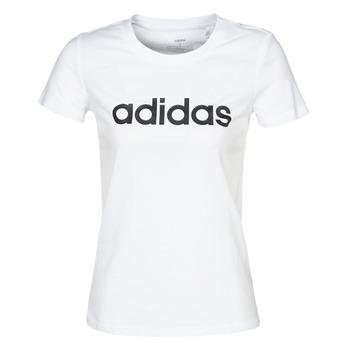 Kleidung Damen T-Shirts adidas Performance E LIN SLIM T Weiss