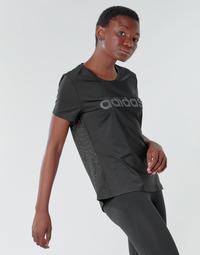 Kleidung Damen T-Shirts adidas Performance D2M LO TEE Schwarz
